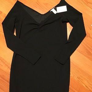 H&M Off Shoulder Mini Black Dress, Large, NWT